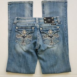 Miss Me Cross Bling Bootcut Jeans